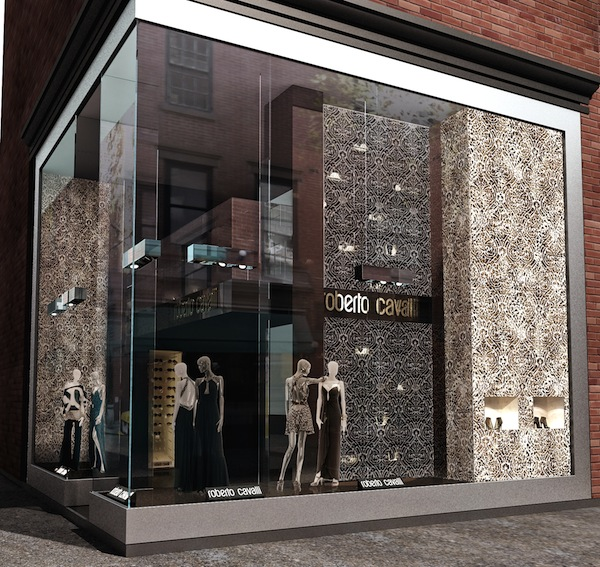 Roberto cavalli reopens the newly renovated madison avenue for Store fenetre new york